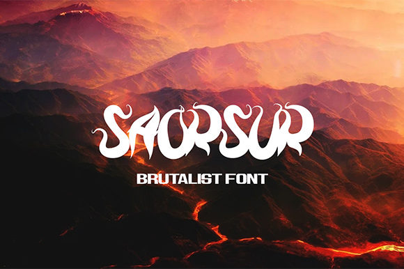 Print on Demand: Saorsur Display Font By Nico Muslib