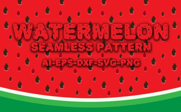 Print on Demand: Seamless Patterns Watermelon Graphic Patterns By Bayu Baluwarta