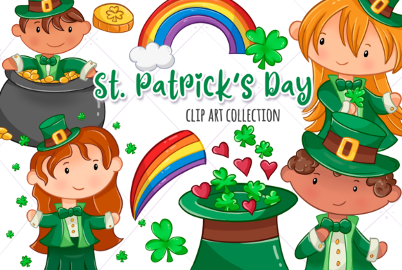 Print on Demand: St Patrick's Day Clip Art Collection Graphic Illustrations By Keepinitkawaiidesign