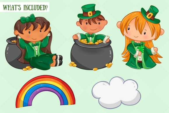 Print on Demand: St Patrick's Day Clip Art Collection Graphic Illustrations By Keepinitkawaiidesign - Image 2