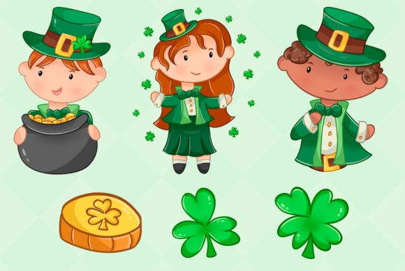 Print on Demand: St Patrick's Day Clip Art Collection Graphic Illustrations By Keepinitkawaiidesign - Image 3