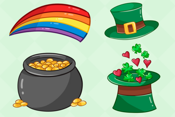Print on Demand: St Patrick's Day Clip Art Collection Graphic Illustrations By Keepinitkawaiidesign - Image 4