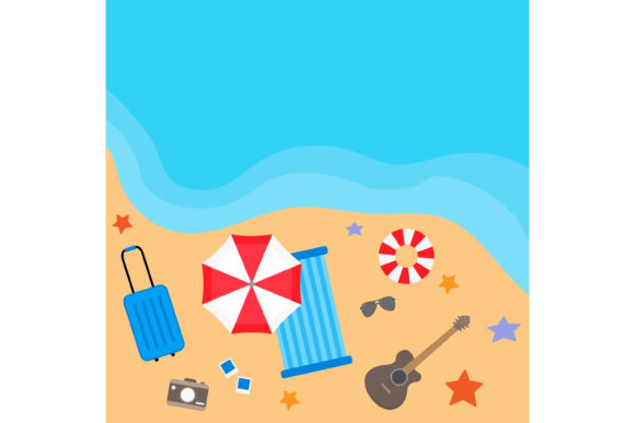 Print on Demand: Summer Vacation Travel Design Graphic Illustrations By sabavector