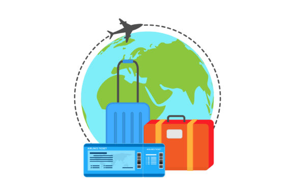 Download Free Time To Travel Vector Design Graphic By Sabavector Creative for Cricut Explore, Silhouette and other cutting machines.