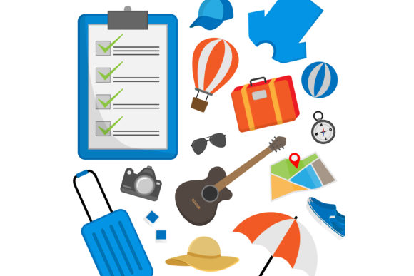 Print on Demand: Travel Preparation Graphic Graphic Templates By sabavector