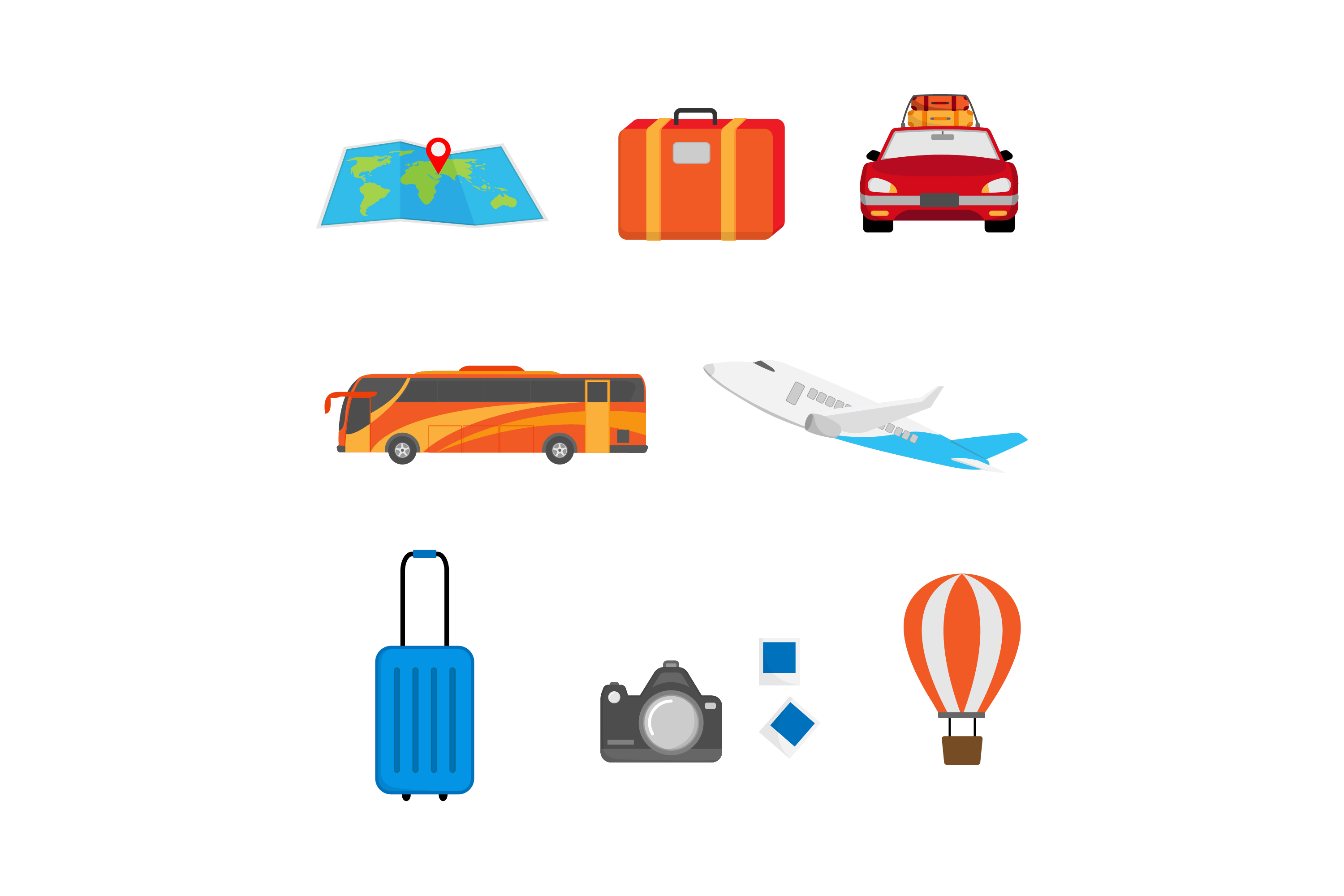 Download Free Travel Vector Design Graphic By Sabavector Creative Fabrica for Cricut Explore, Silhouette and other cutting machines.