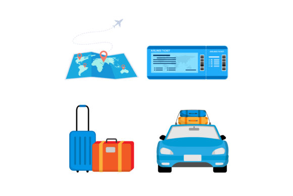 Print on Demand: Traveling Preparation Graphic Graphic Templates By sabavector