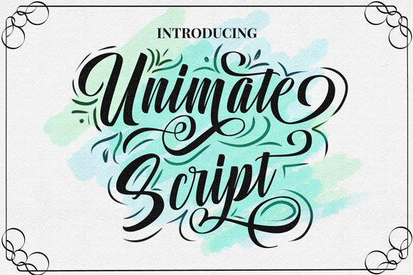 Print on Demand: Unimate Script & Handwritten Font By Flamde Studio