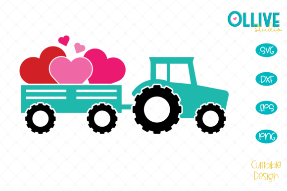Download Free Valentine S Day Truck Graphic By Ollivestudio Creative Fabrica for Cricut Explore, Silhouette and other cutting machines.
