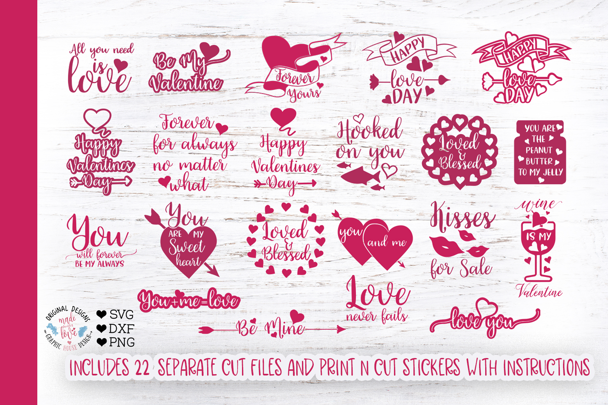 Download Free Valentine S Quotes Bundle Graphic By Graphichousedesign for Cricut Explore, Silhouette and other cutting machines.
