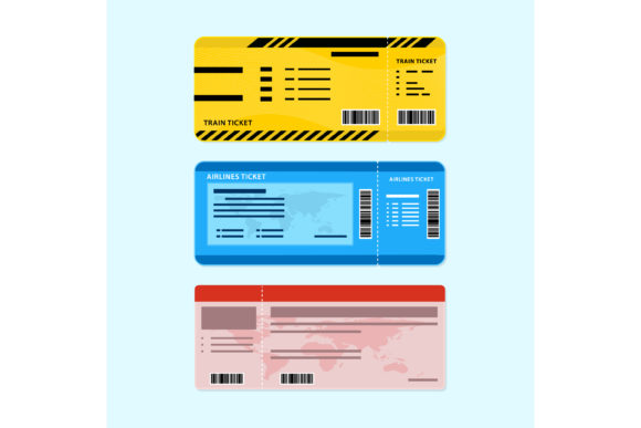 Print on Demand: Vector Designs Ticket Graphic Graphic Templates By sabavector