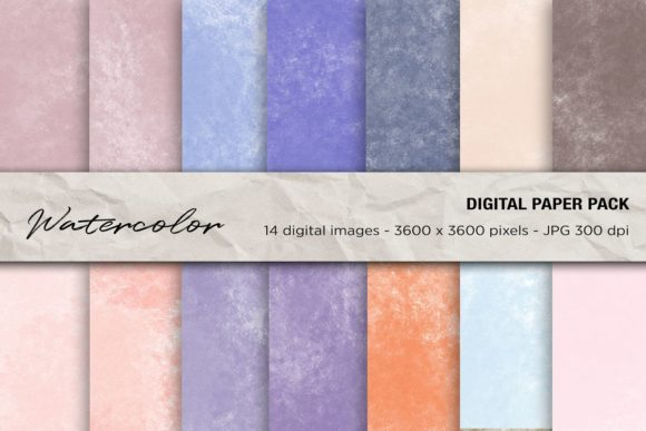 Watercolor Digital Papers Graphic