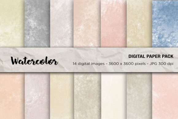 Watercolor Digital Papers Graphic Backgrounds By mertakdere19