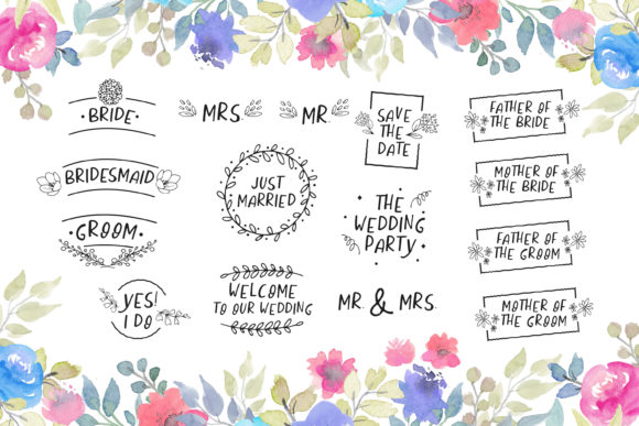 Download Free Wedding Lettering Designs Bundle Graphic By Scilla Corbelli for Cricut Explore, Silhouette and other cutting machines.