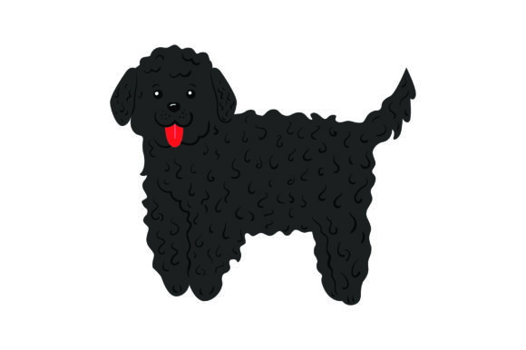 Black Goldendoodle Dogs Craft Cut File By Creative Fabrica Crafts