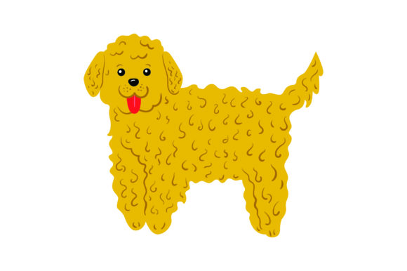 Blonde Goldendoodle Dogs Craft Cut File By Creative Fabrica Crafts