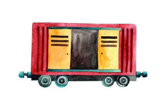 Download Free Train Boxcar With Open Door Watercolor Svg Cut File By for Cricut Explore, Silhouette and other cutting machines.
