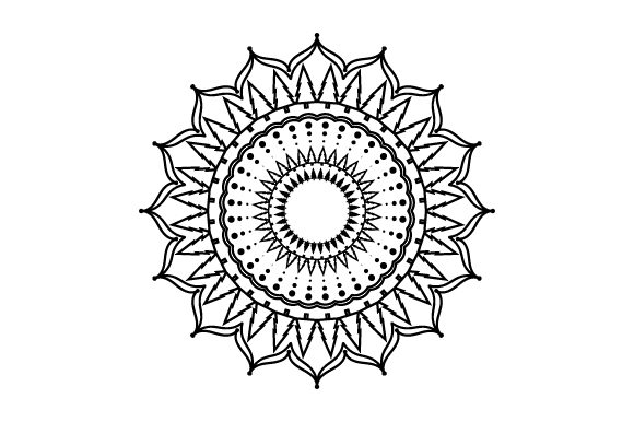 Download Free Forest Scene Mandala Style Svg Cut File By Creative Fabrica for Cricut Explore, Silhouette and other cutting machines.