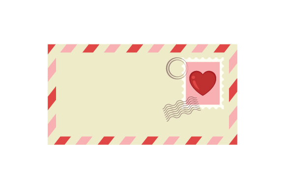 Envelope with Heart Stamp Valentine's Day Craft Cut File By Creative Fabrica Crafts