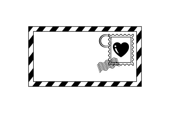 Envelope with Heart Stamp Valentine's Day Craft Cut File By Creative Fabrica Crafts - Image 2