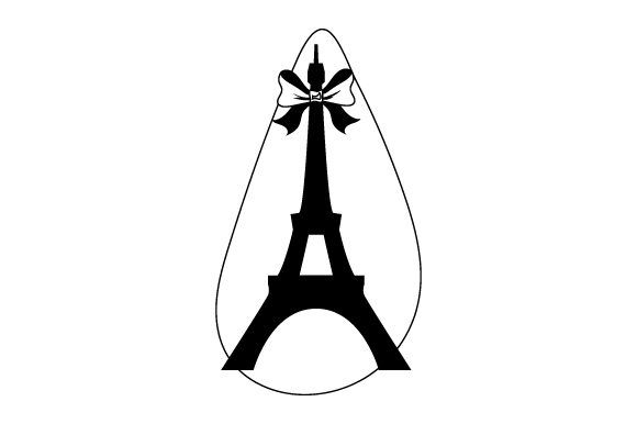 Download Free Eiffel Tower With Red Bow Svg Cut File By Creative Fabrica for Cricut Explore, Silhouette and other cutting machines.