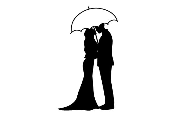 Couple Kissing Under Umbrella Valentine's Day Craft Cut File By Creative Fabrica Crafts - Image 2