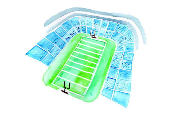 Football Stadium Sports Craft Cut File By Creative Fabrica Crafts