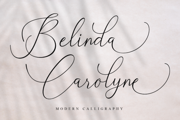 Print on Demand: Belinda Carolyne Script & Handwritten Font By MJB Letters
