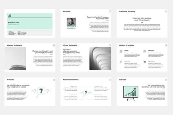 Business Plan Keynote Template Graphic By Jetztemplates Creative Fabrica