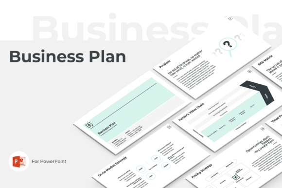 Business Plan PowerPoint Template Graphic Presentation Templates By JetzTemplates