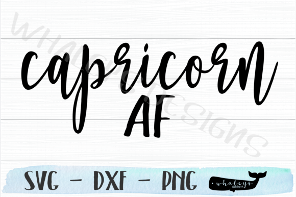 Download Free Capricorn Af Horoscope Graphic By Whaleysdesigns Creative Fabrica for Cricut Explore, Silhouette and other cutting machines.