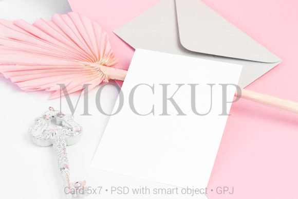 Download Free Flat Lay Mockup Postcard With Envelope Graphic By Pawmockup for Cricut Explore, Silhouette and other cutting machines.