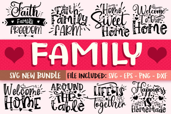 Print on Demand: Family Design Bundle Graphic Crafts By OrinDesign - Image 1
