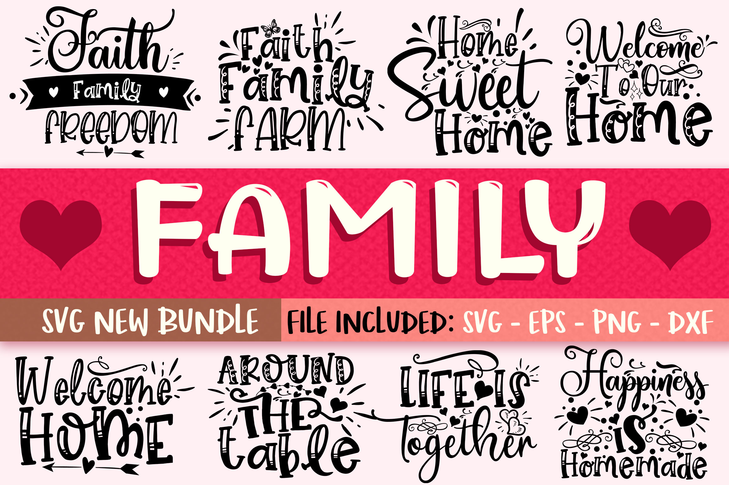 Download Free Family Design Bundle Graphic By Orindesign Creative Fabrica for Cricut Explore, Silhouette and other cutting machines.