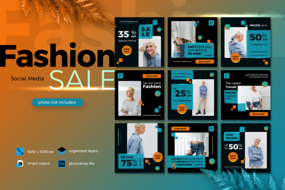 Download Free Fashion Sale Social Media Lava Lush Graphic By Diqtam Creative for Cricut Explore, Silhouette and other cutting machines.