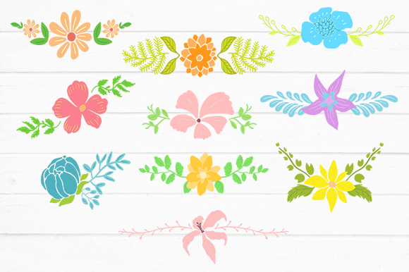 Print on Demand: Floral Vector Set V2 Graphic Crafts By svgsupply