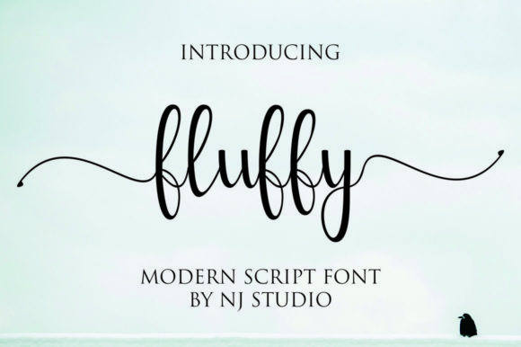 Print on Demand: Fluffy Script & Handwritten Font By NJStudio