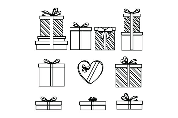 Print on Demand: Gift Box Collection Graphic Graphic Templates By curutdesign