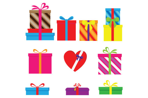 Print on Demand: Gift Shape Collection Graphic Graphic Templates By curutdesign