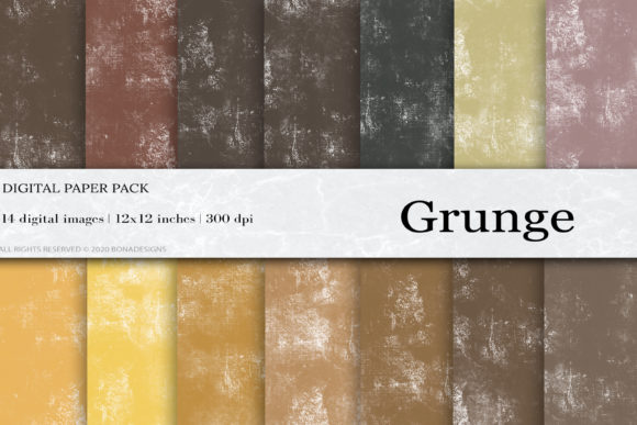 Grunge Digital Paper Graphic Backgrounds By damlaakderes - Image 1