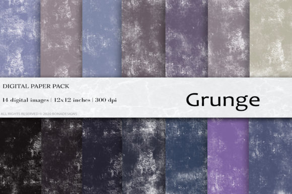 Grunge Digital Papers Graphic Backgrounds By BonaDesigns - Image 1