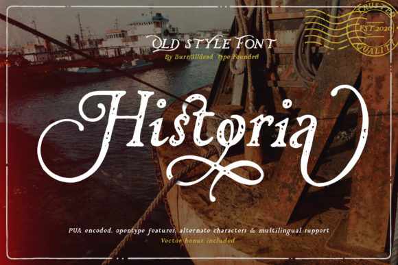 Print on Demand: Historia Serif Font By Burntilldead