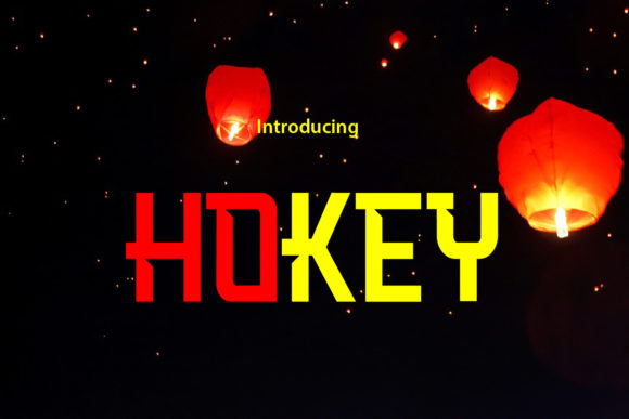 Print on Demand: Hokey Display Font By da_only_aan