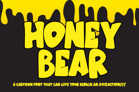 Print on Demand: Honey Bear Display Font By thomasaradea