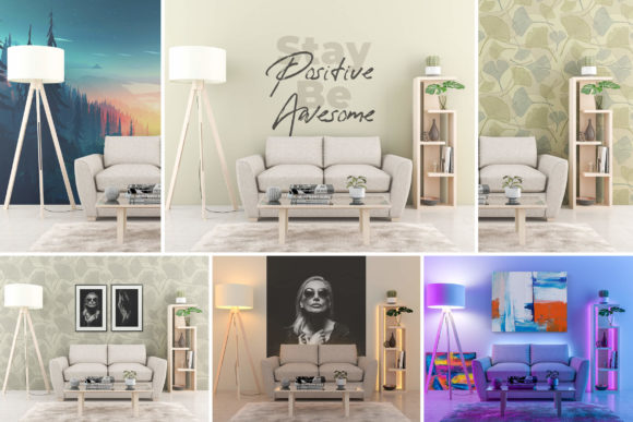 Interior Mock-up by Day/night Vol. 01 Graphic Product Mockups By pozitivo