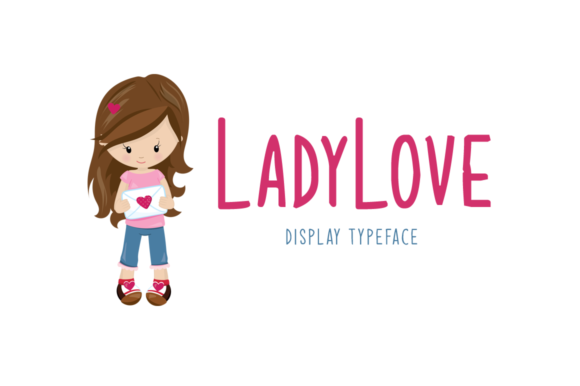 Print on Demand: Ladylove Display Font By Instagram Fonts - Image 1