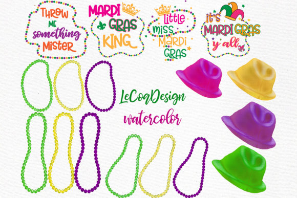 Mardi Gras Clipart, Family Clipart Graphic Illustrations By LeCoqDesign - Image 4