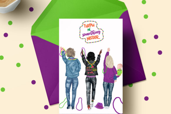Mardi Gras Clipart, Family Clipart Graphic Illustrations By LeCoqDesign - Image 5