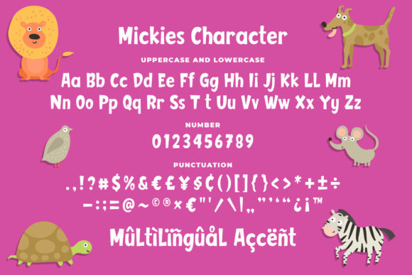 Print on Demand: Mickies Display Font By Blankids Studio - Image 6
