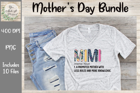 Print on Demand: Mother's Day Bundle, Doodle Font Graphic Print Templates By You Make It Personal - Image 10